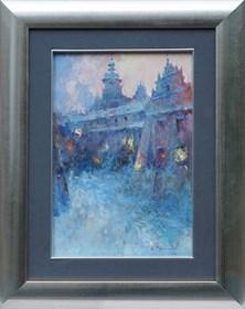 Obraz do salonu artysty Anatol Martyniuk pod tytułem Lwów, Podwórko Bernardynów