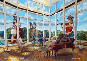 Obraz do salonu artysty Krzysztof Żyngiel pod tytułem Polifonia melodyczna