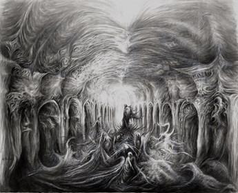 Obraz do salonu artysty Andrzej Masianis pod tytułem Weles