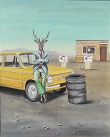 Obraz do salonu artysty Lech Bator pod tytułem Bez tytułu