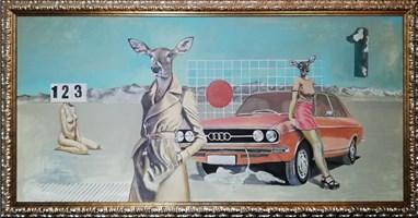 Obraz do salonu artysty Lech Bator pod tytułem AUUU DEER