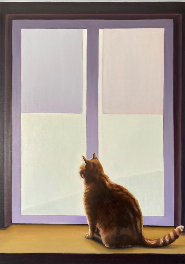 Obraz do salonu artysty Marta Sobierajska pod tytułem Zamyślenie