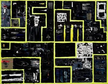 Obraz do salonu artysty Krzysztof Pająk pod tytułem Czarny obraz