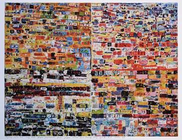 Grafika do salonu artysty Krzysztof Pająk pod tytułem Kody DNA