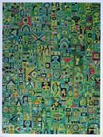 Grafika do salonu artysty Krzysztof Pająk pod tytułem Zielony układ scalony