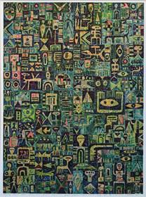 Grafika do salonu artysty Krzysztof Pająk pod tytułem Green Zone
