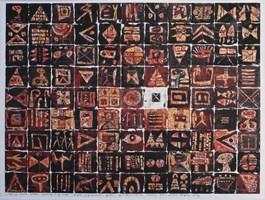 Grafika do salonu artysty Krzysztof Pająk pod tytułem Samotny biały znak