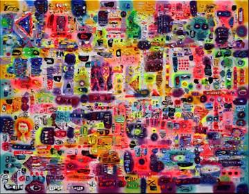 Obraz do salonu artysty Krzysztof Pająk pod tytułem Kawałek świata