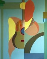 Obraz do salonu artysty Jan Pływacz pod tytułem Kobieta z gitarą