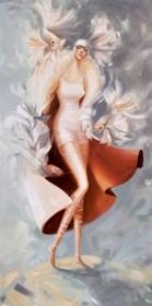Obraz do salonu artysty Karina Jaźwińska pod tytułem Panna Zofia sięga po okazje