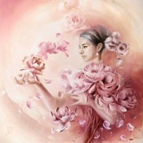 Obraz do salonu artysty Karina Jaźwińska pod tytułem Sen w ogrodzie