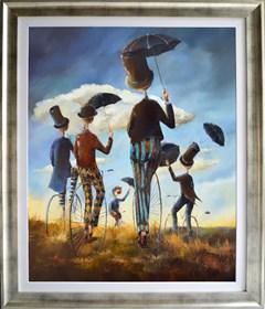 Obraz do salonu artysty Małgorzata Piątek-Grabczyńska pod tytułem Zawsze Pod prąd