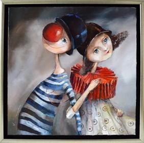 Obraz do salonu artysty Małgorzata Piątek-Grabczyńska pod tytułem Nić porozumienia