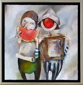 Obraz do salonu artysty Małgorzata Piątek-Grabczyńska pod tytułem Obejść się smakiem