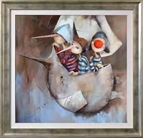 Obraz do salonu artysty Małgorzata Piątek-Grabczyńska pod tytułem Trzej panowie z...