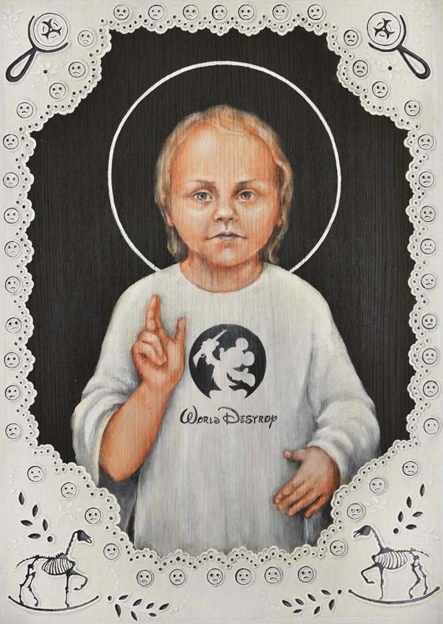 Obraz do salonu artysty Borys Fiodorowicz pod tytułem World Destroy