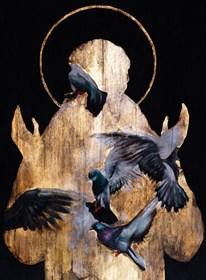 Obraz do salonu artysty Borys Fiodorowicz pod tytułem Modlitwa do ptaszków