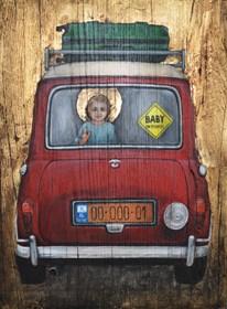 Obraz do salonu artysty Borys Fiodorowicz pod tytułem Ucieczka do Egiptu I