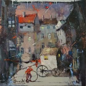 Obraz do salonu artysty Wacław Sporski pod tytułem Próba
