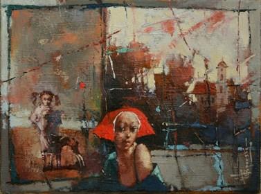 Obraz do salonu artysty Wacław Sporski pod tytułem Wieczorny spacer