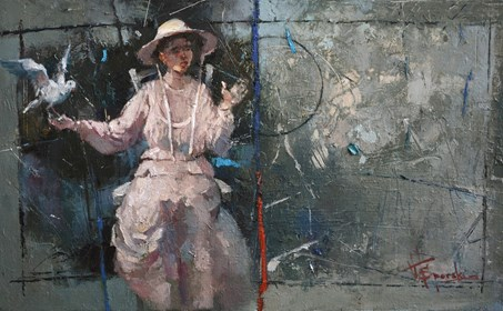 Obraz do salonu artysty Wacław Sporski pod tytułem Sam na sam z naturą