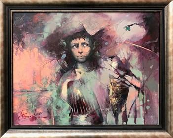 Obraz do salonu artysty Wacław Sporski pod tytułem Łowca ptaków