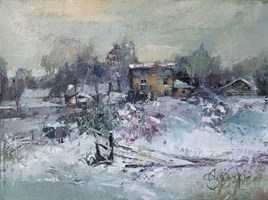 Obraz do salonu artysty Alex Sporski pod tytułem Zimowy wieczór