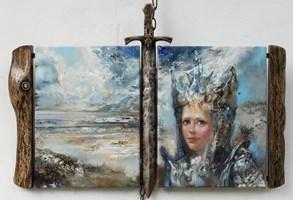 Obraz do salonu artysty Stanisław Sugintas pod tytułem Samotny król