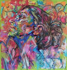 Obraz do salonu artysty Bastien Ducourtioux pod tytułem Behind the wall
