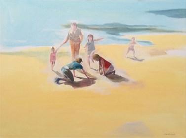 Obraz do salonu artysty Marta Szarek-Michalak pod tytułem Palcem na piasku