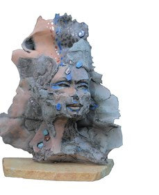 Rzeźba do salonu artysty Jacek Opała pod tytułem Hipnoza