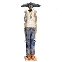 Rzeźba do salonu artysty Arek Szwed pod tytułem Niebieski Faun