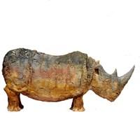 Rzeźba do salonu artysty Arek Szwed pod tytułem Nosorożec