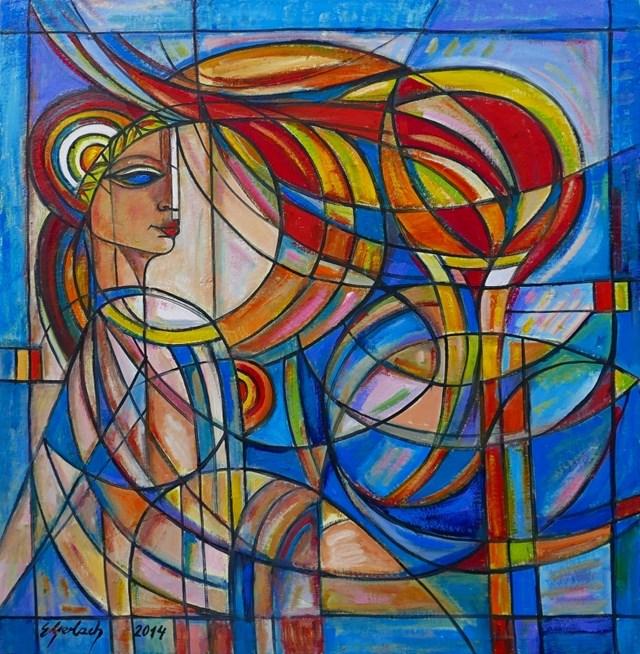 Obraz do salonu artysty Eugeniusz Gerlach pod tytułem Grecka królowa
