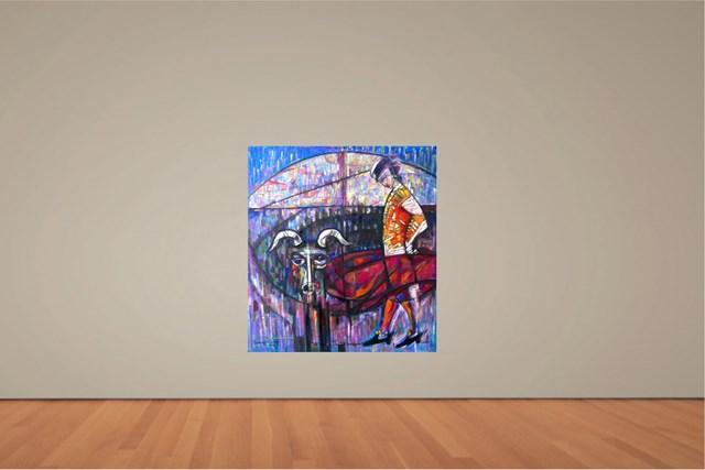 Byk i Torreador - wizualizacja pracy autora Eugeniusz Gerlach