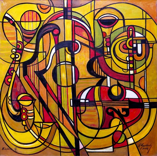 Obraz do salonu artysty Eugeniusz Gerlach pod tytułem  Instrumenty - 014