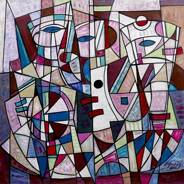 Obraz do salonu artysty Eugeniusz Gerlach pod tytułem Kompozycja - trio