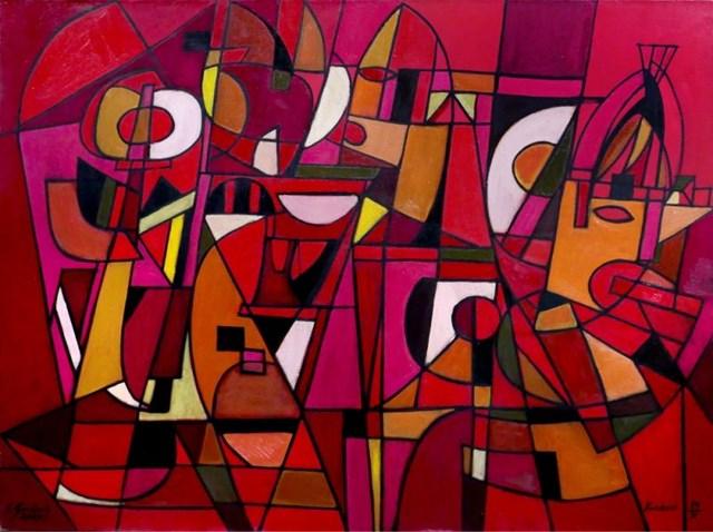 Obraz do salonu artysty Eugeniusz Gerlach pod tytułem Kompozycja rycerska