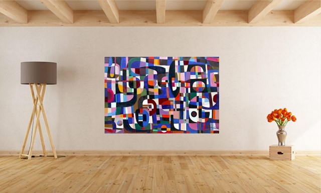 Kompozycja fioletowa - wizualizacja pracy autora Eugeniusz Gerlach