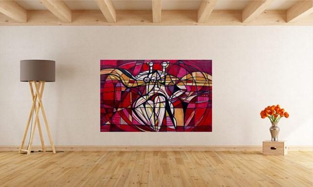 Czerwony balet - wizualizacja pracy autora Eugeniusz Gerlach