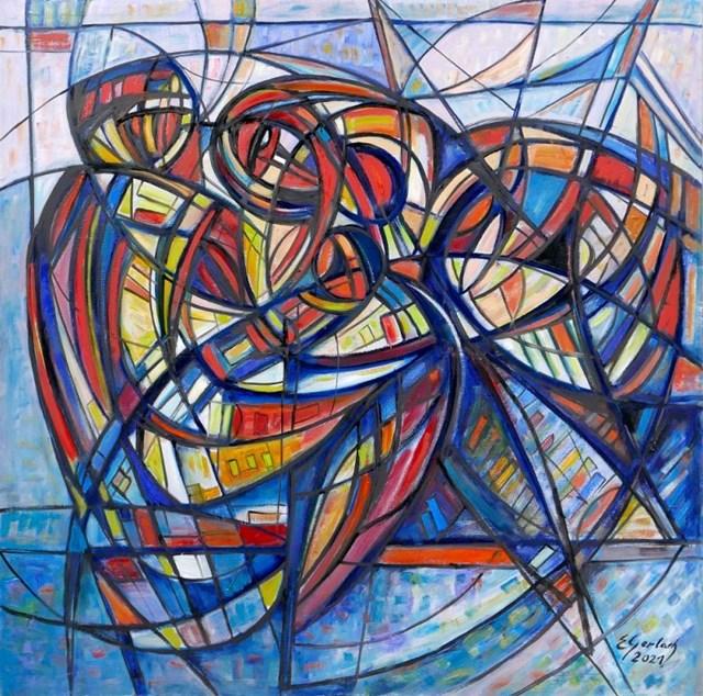 Obraz do salonu artysty Eugeniusz Gerlach pod tytułem Kochankowie