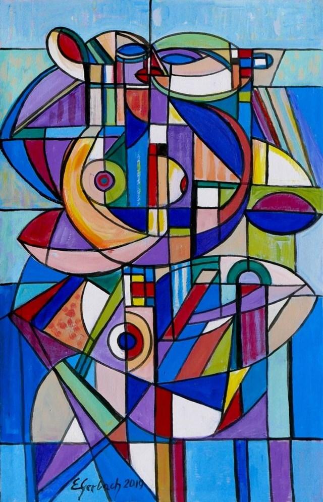 Obraz do salonu artysty Eugeniusz Gerlach pod tytułem Błękitne tango