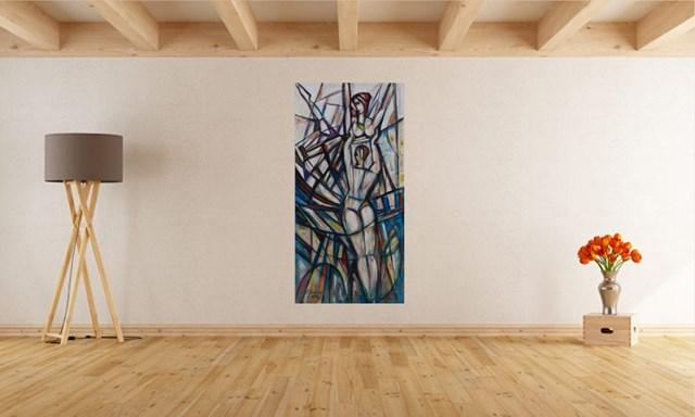 Jezioro Łabędzie - wizualizacja pracy autora Eugeniusz Gerlach