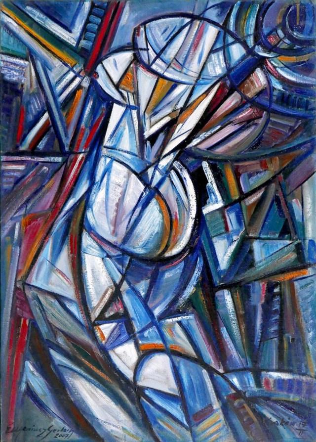 Obraz do salonu artysty Eugeniusz Gerlach pod tytułem Przed lustrem