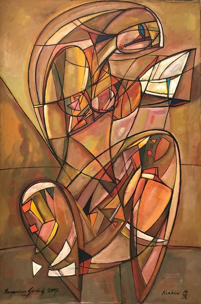 Obraz do salonu artysty Eugeniusz Gerlach pod tytułem Akt z lusterkiem
