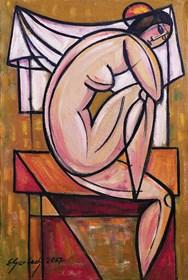 Obraz do salonu artysty Eugeniusz Gerlach pod tytułem Po kąpieli