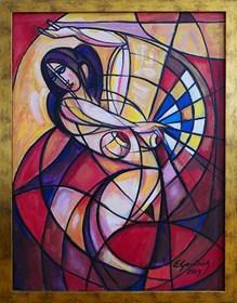 Obraz do salonu artysty Eugeniusz Gerlach pod tytułem Tańcząca Carmen