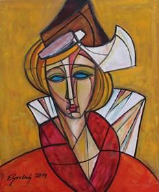 Obraz do salonu artysty Eugeniusz Gerlach pod tytułem Flamandka
