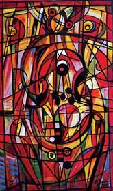 Obraz do salonu artysty Eugeniusz Gerlach pod tytułem Wiolonczelistka 010