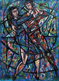 Obraz do salonu artysty Eugeniusz Gerlach pod tytułem Tango